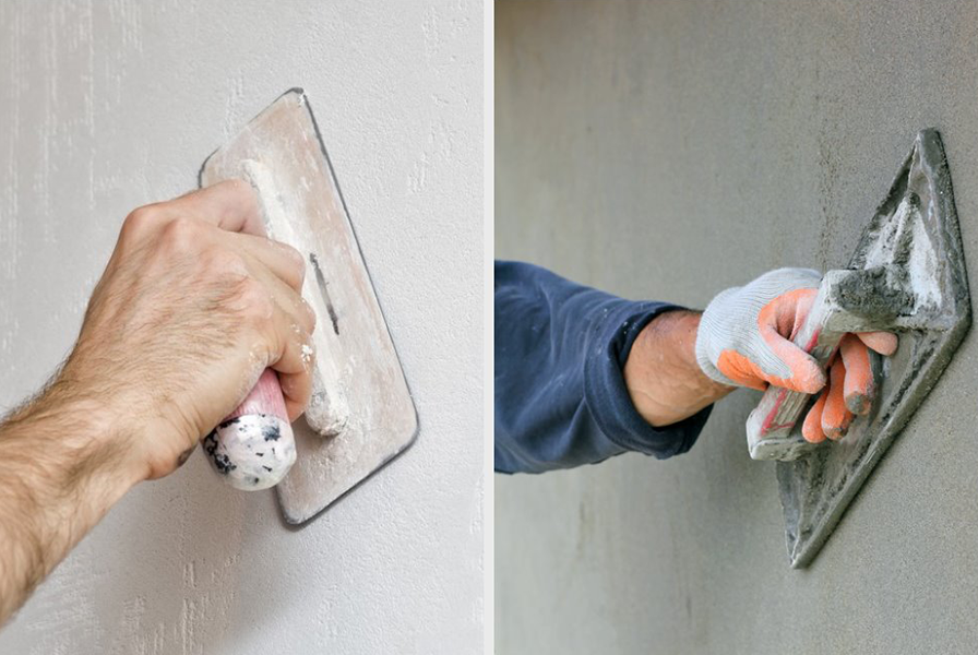 Cement Plaster VS Gypsum Plaster